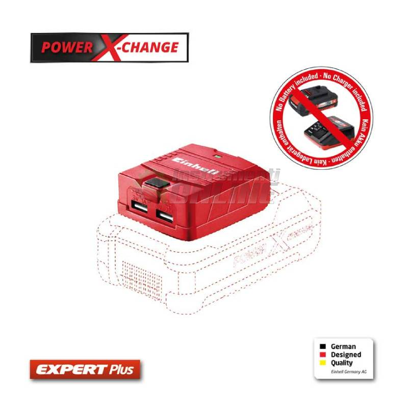 Зарядно устройство, USB, батерия, серията, TE-CP 18 LI USB-SOLO, POWER X-CHANGE, EINHELL