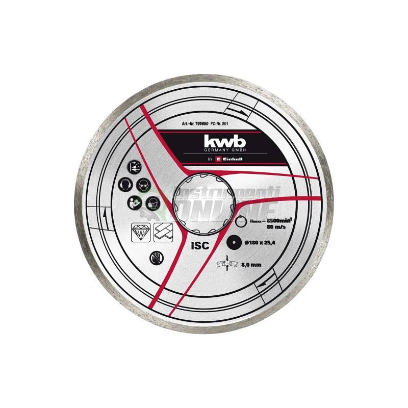 Диамантен диск, Ф 180, 25,4 мм, Einhell-KWB