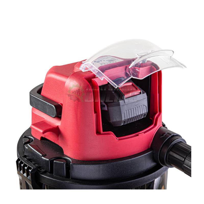 Прахосмукачка, сухо, мокро почистване, 15 л, Li-ion, без батерия, зарядно устройство, RDP-SDWC20, Raider