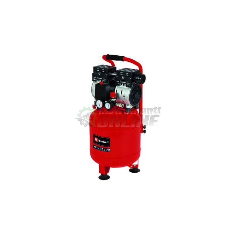 Сух, безмаслен, компресор за въздух, 230 V, 0.75 kW, 8 бара, 135 л/мин, TE-AC 24 Silen, Einhell